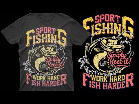 Fishing T-Shirt Design| T-Shirt Design Tutorial | Sport Fishing T-Shirt Design| Best T-Shirt Designs