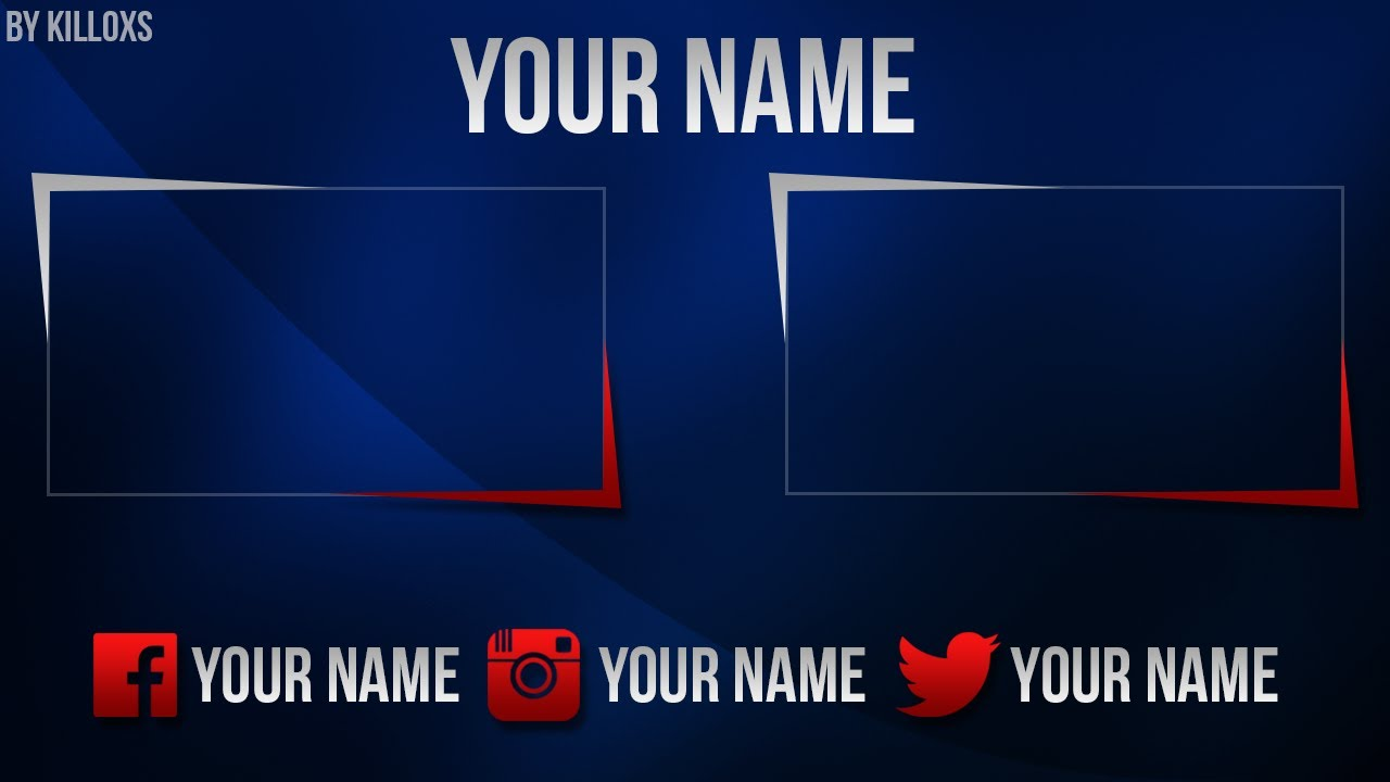 Cool 2d youtube banner template |free psd | photoshop cs6 youtube.