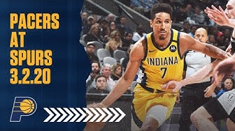 Indiana Pacers Highlights vs  San Antonio Spurs | March 2, 2020