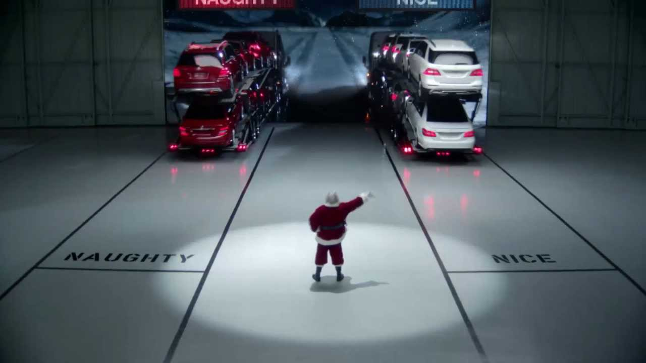 Mercedes benz christamas commercial naughty nice youtube for Mercedes benz christmas commercial