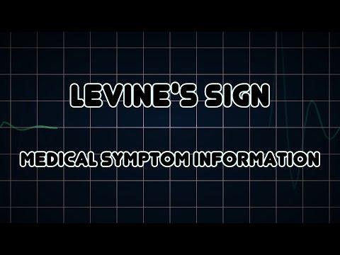 Levine's sign (Medical Symptom)