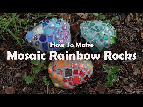 Mosaic Tutorials: Mosaic Garden Rocks