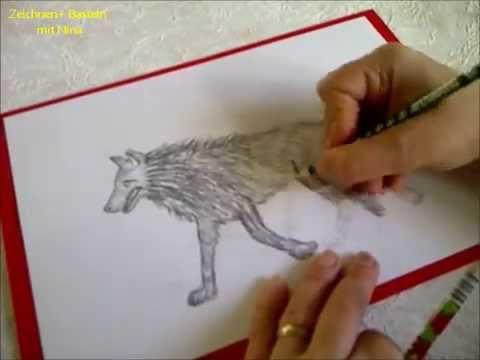 zeichnen lernen f r anf nger tiere malen wie zeichnet malt man einen wolf youtube. Black Bedroom Furniture Sets. Home Design Ideas