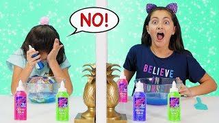 REAL vs PRANK Twin Telepathy Slime DUMP IT Challenge!!!!