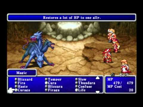 Let's Play Final Fantasy 1 (Dawn of Souls) Walkthrough Part 20 (Earthgift Shrine)