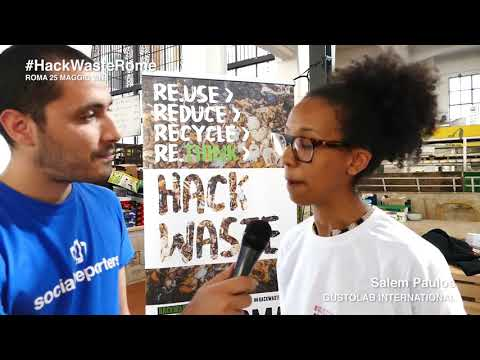 Hack Waste Rome - Intervista a Salem Paulos, GustoLab International