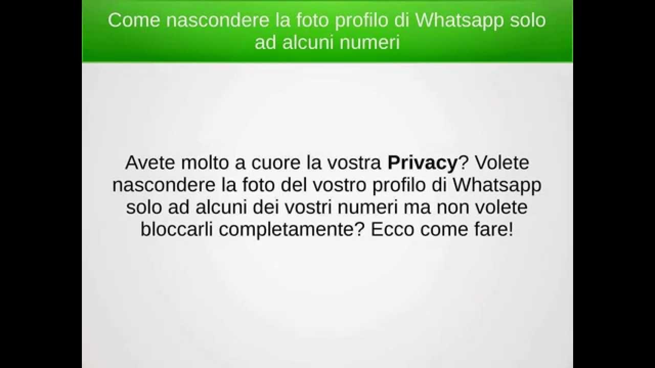 Come vedere chi visita il tuo profilo WhatsApp   Salvatore ...