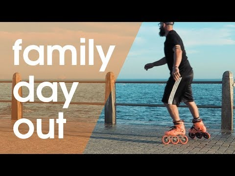 MY FAMLY OUT INLINE AND ROLLER SKATING // VLOG 210