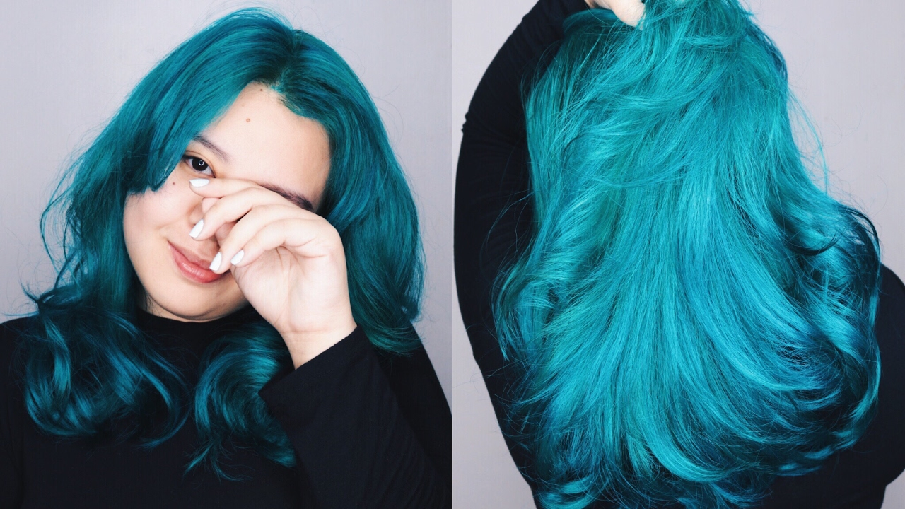 HOW TO: COLOR YOUR HAIR BLUE/AQUAMARINE (Philippines ...