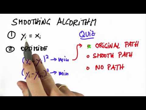 Smoothing Algorithm Solution - Artificial Intelligence for Robotics