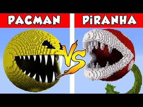 PACMAN Vs PIRANHA PLANT - PvZ Vs Minecraft Vs Smash