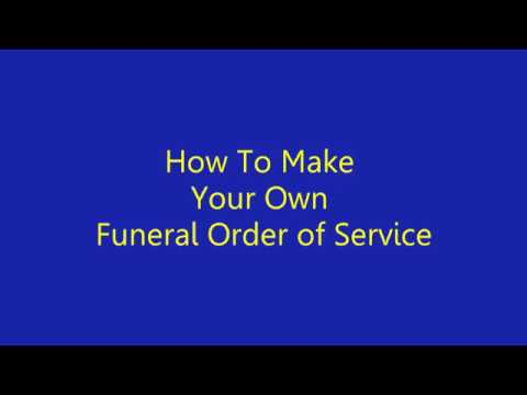 How To Make Funeral Program In Microsoft Word