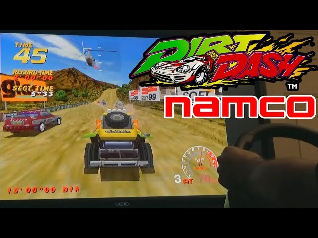 Dirt Dash (Arcade) with 270 Degree Wheel in MAME