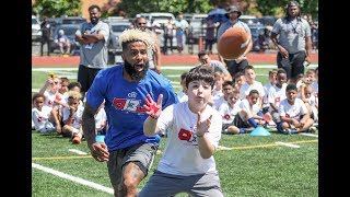 Giants' Odell Beckham coaches drills at youth camp