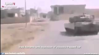 Iraqi Abrams Tank Explosion Of A Booby Trapped Car