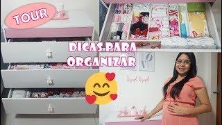 TOUR PELA CÔMODA DA BABY + DICAS DE ORGANIZAÇÃO