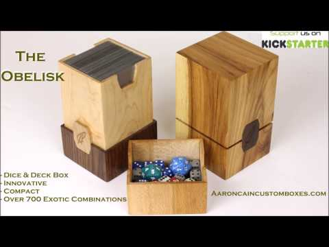 "The ""Obelisk"" New Deck Box from Aaron Cain Custom Deck Boxes"