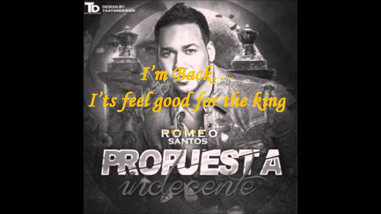 Propuesta indecente. Romeo Santos. Lyrics English.Indecent ...  Romeo Santos Propuesta Indecente Letra