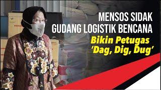 Mensos Sidak Gudang Logistik, Bikin Petugas 'Dag Dig Dug'