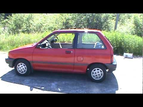 1990 ford festiva lx youtube. Black Bedroom Furniture Sets. Home Design Ideas