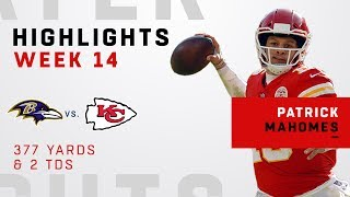 Patrick Mahomes Highlights vs. Ravens