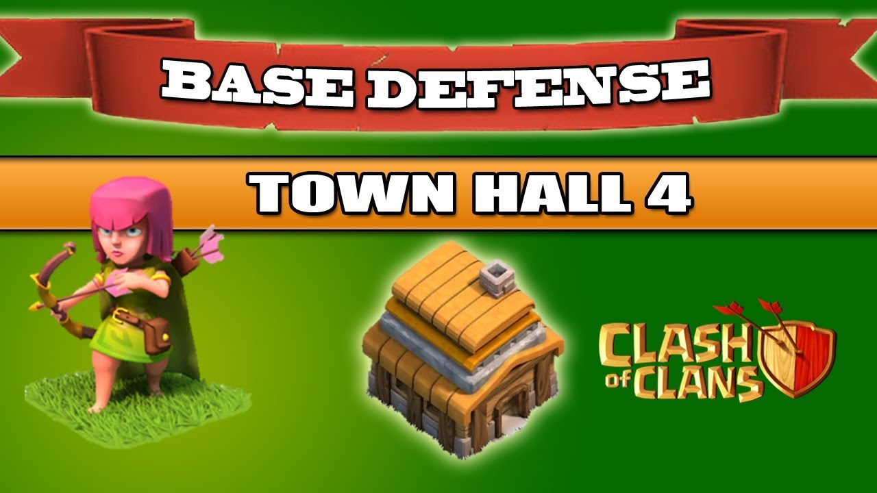 New clash of clans town hall 4 trophy base best coc th4 trophy base