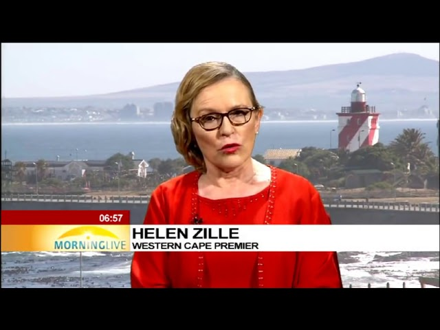 South African Premier of the Western, Cape Helen Zille speaks on Cape Town water crisis.