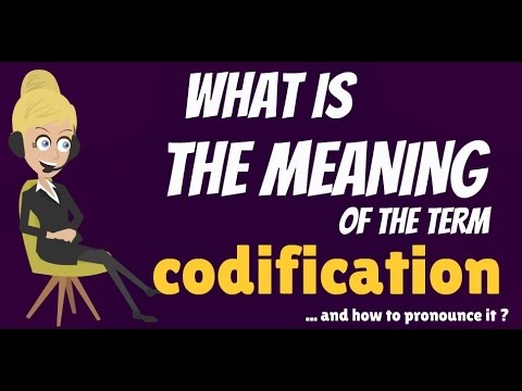 Codifying and consolidating statutes pronunciation