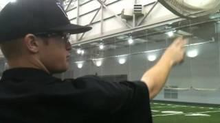 Tyler Davis teaches the cutter