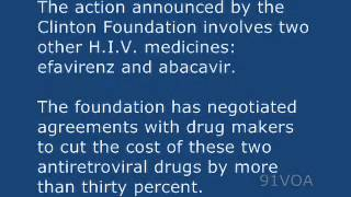 [91VOA]New Efforts Aim to Get More H.I.V. Drugs to Poor Countries