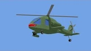 Military Helicopter - Attack Helicopter . War! | Fairytales For Kids