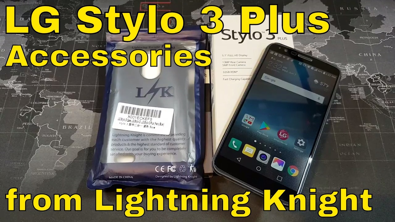 buy online 8ed3b 3e965 LG Stylo 3 / Stylo 3 Plus - Case and Tempered Glass from Lightning Knight