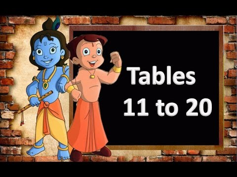 Worksheet 11 To20 Table tables for kids maths table of 11 to 20 youtube 20