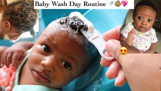 Baby Curly Hair Wash Day Routine + Tips On Growing Baby