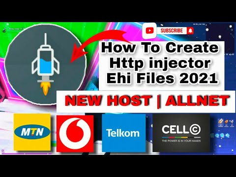 Download How To Create Http injector Ehi Files For All Network | MTN | Vodacom | Cell C | Telkom | New Host