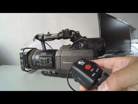 Zoom remote controller EDV dedicated for various Canon, Panasonic and Sony Camcorders.