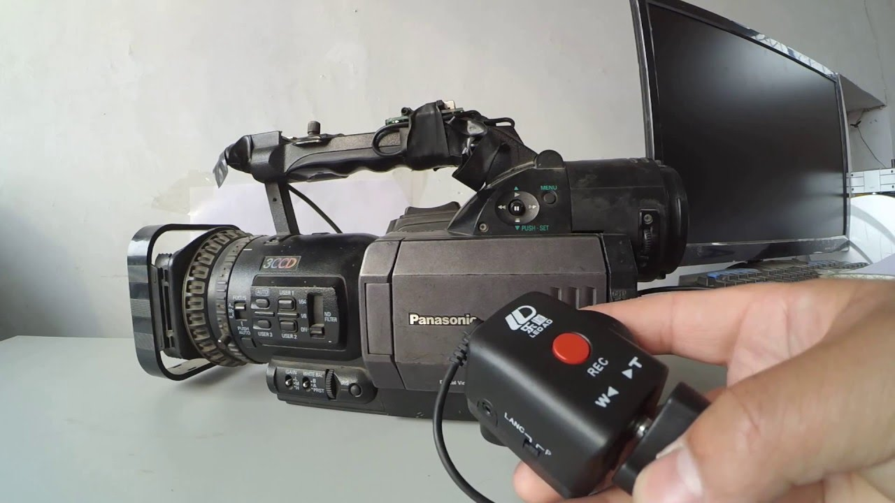 Zoom remote controller EDV dedicated for various Canon, Panasonic and Sony  Camcorders