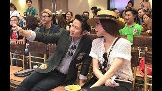 Bằng Kiều tranh thủ selfie với Hồ Ngọc Hà và Đàm Vĩnh Hưng tại event