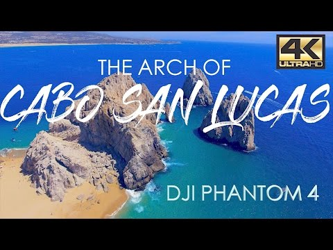 CABO SAN LUCAS ARCHES (EL ARCO) DRONE AERIAL VIEW 4K