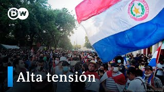 Protestas y represión en Paraguay