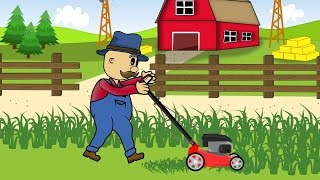 ☻ Farmer | Lawn Mower | Animations | Rolnik i Jego Kosiarka ☻