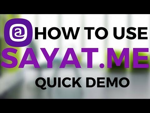 How to use Sayat.me | Quick Demo | Use with Instagram | Hindi