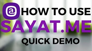 how to use sayat me   quick demo   use with instagram   hindi