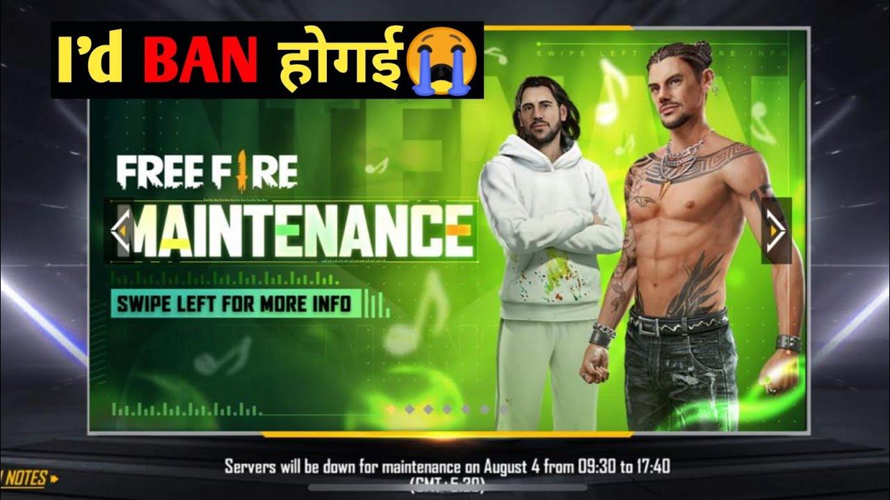 Sabki I'd ban hogyi😭😭   Free fire game kyu nhi chal raha   New update free fire   Nazim Gamer