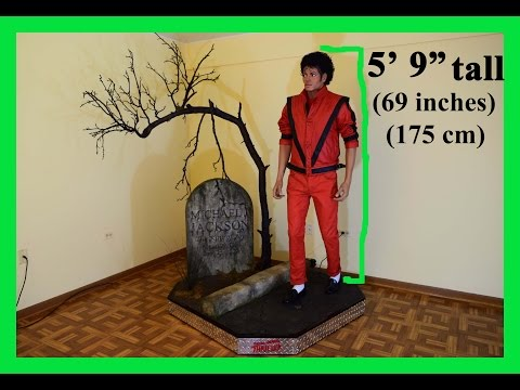 Michael Jackson LIFE-SIZE FINALLY IN 2016 - FOR SALE!!! (1:1 Scale) THRILLER Statue Figure