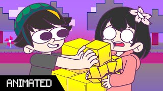 """GOLD BLOCKS"" - LilyPichu Animated Ft. Michael Reeves, Disguised Toast & Sykkuno (by Baglets)"