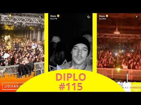 Diplo mixing in Johannesburg (Africa) - snapchat - april 23 2017
