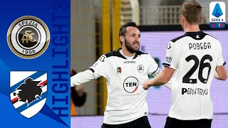 Spezia claim a crucial home win after goals from nzola and terzi cancel out candreva's first half strike in the ligurian derby! | serie timthis is offi...