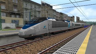 OpenBVE HD: Amtrak 10 Car Acela Express Horn Show Footage Along the Sellye-Pecs Line @ 150 MPH