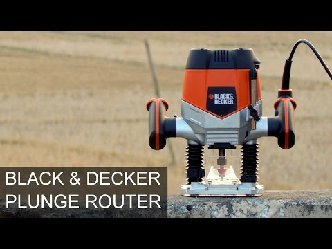 Black & Decker  KW900EKA Plunge Router Unboxing